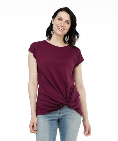 The SITA tee in Deep Currant