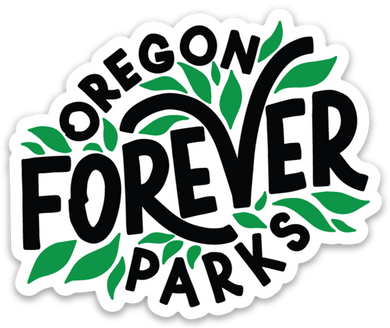 Oregon Parks Forever Leaf Sticker