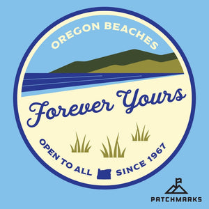 """Forever Yours"" Oregon Beach Bill 50th Anniversary Sticker"