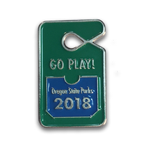 "Oregon State Parks Go Play 1"" Enamel Pin"
