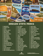Oregon State Parks Collection Checklist