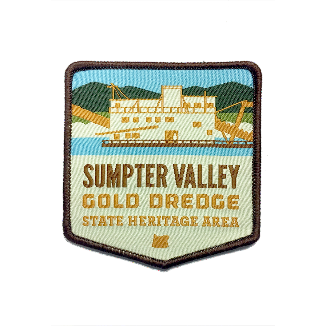 Sumpter Valley Gold Dredge State Heritage Area Iron-on 3
