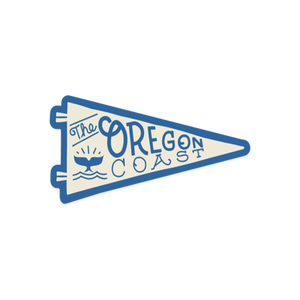 The Oregon Coast Pennant Vinyl Sticker