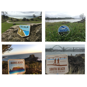 "21 Oregon State Parks - ""Oregon Coast"" Iron-on Patch Set"