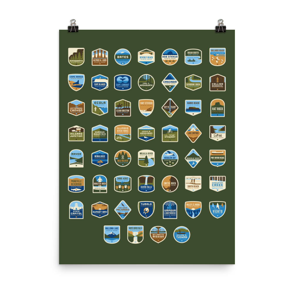 53 Oregon State Parks Framable Poster, 18