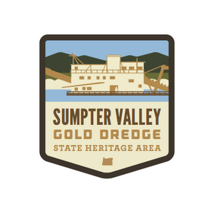 Sumpter Valley Gold Dredge State Heritage Area Weatherproof Sticker
