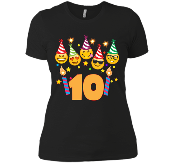 Emoji Birthday Shirt For 10 Ten Year Old Girl Boy Toddler Next Level