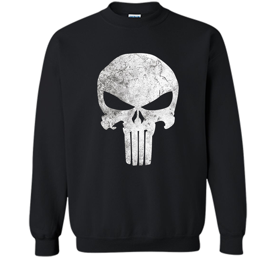 421faa7e7 Home / Printed Crewneck Pullover Sweatshirt 8 oz · Home » Products » Marvel Punisher  Skull Symbol Distressed Graphic T-Shirt ...