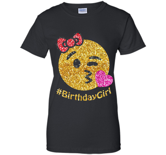 Its My Birthday Emoji Pink Shirt Ladies Custom