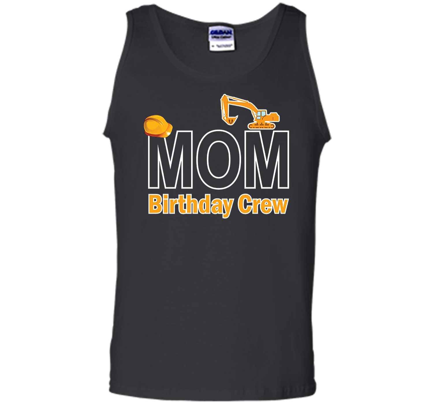Mom Birthday Crew Shirts For Construction Party Tank Top