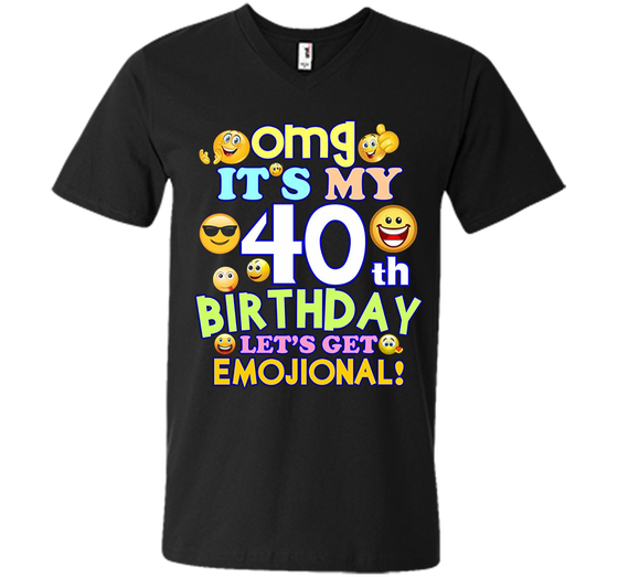 Its My 40th Birthday Funny Emoji T Shirt Gift Mens