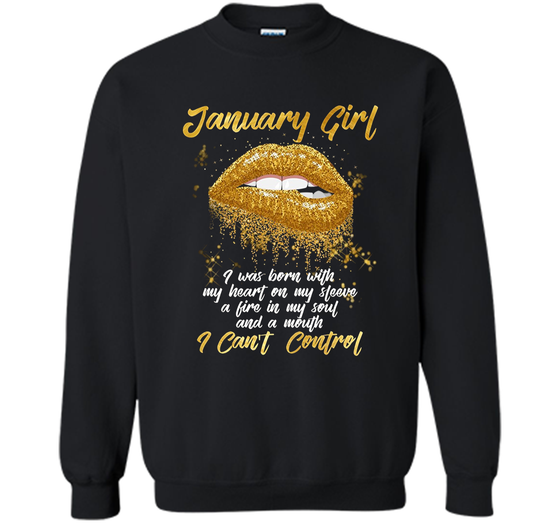 Im A January Girl Shirt Funny Birthday T For Women Printed