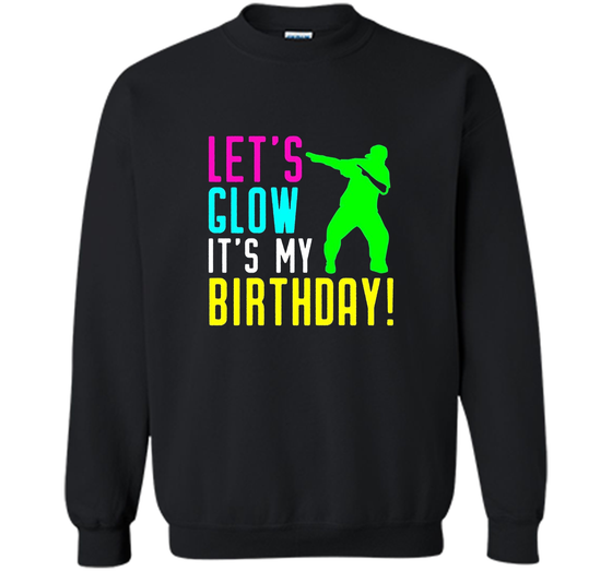 Lets Glow Party Its My Birthday Gift Dabbing T Shirt Printed