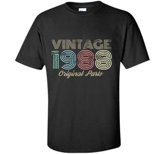 44c32581417 Home   Custom Ultra Cotton · Home » Products » Vintage 1988 T-Shirt Retro  30th Birthday Tee ...