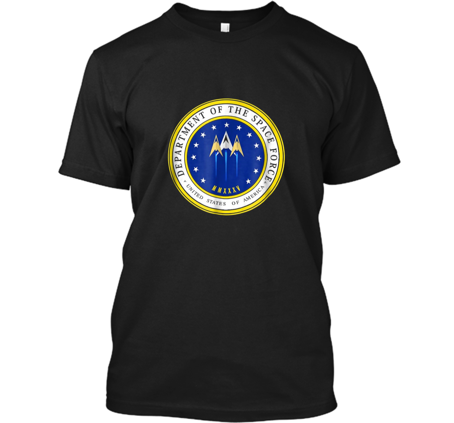 Department Of Space Force Funny Political Satire T Shirt Custom