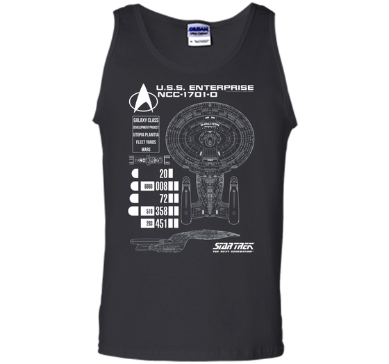 2870cf27e Home / Tank Top · Home » Products » Star Trek Next Generation Enterprise  Chart Graphic T-Shirt ...