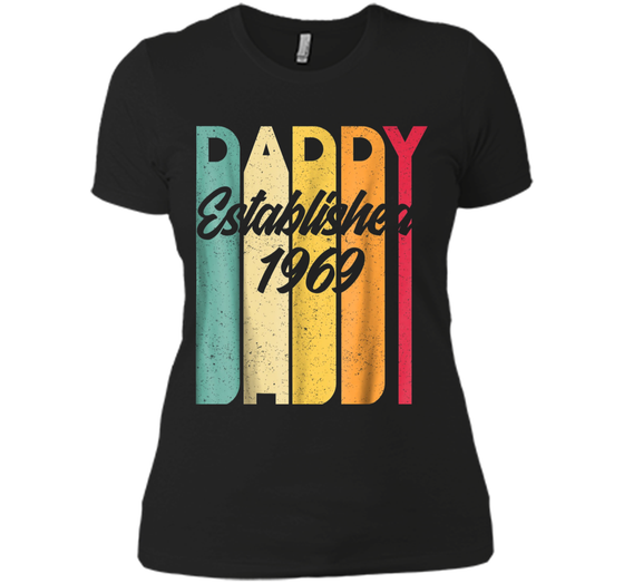 5097e0b76 Daddy Established EST 1969 Vintage T shirt Father s Day Gift Next ...