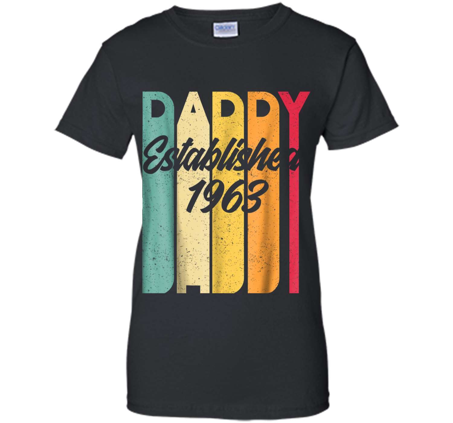 670f3bbfd Daddy Established EST 1963 Vintage T shirt Father s Day Gift Ladies Custom  - Lizado