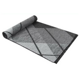 Men's Fringed Cashmere Scarf Grey Plaid