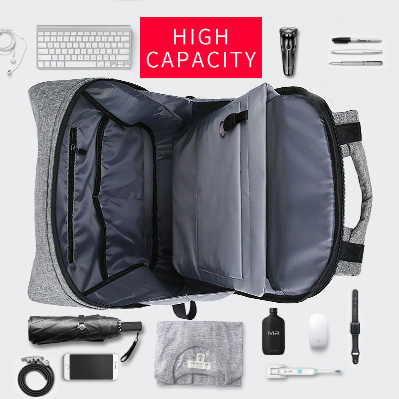 MODERN BACKPACK WITH USB CHARGING PORT