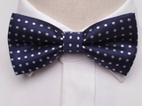 Pre-Tied Bowtie Navy Large Dot