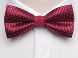 Pre-Tied Bowtie Red Dot Print