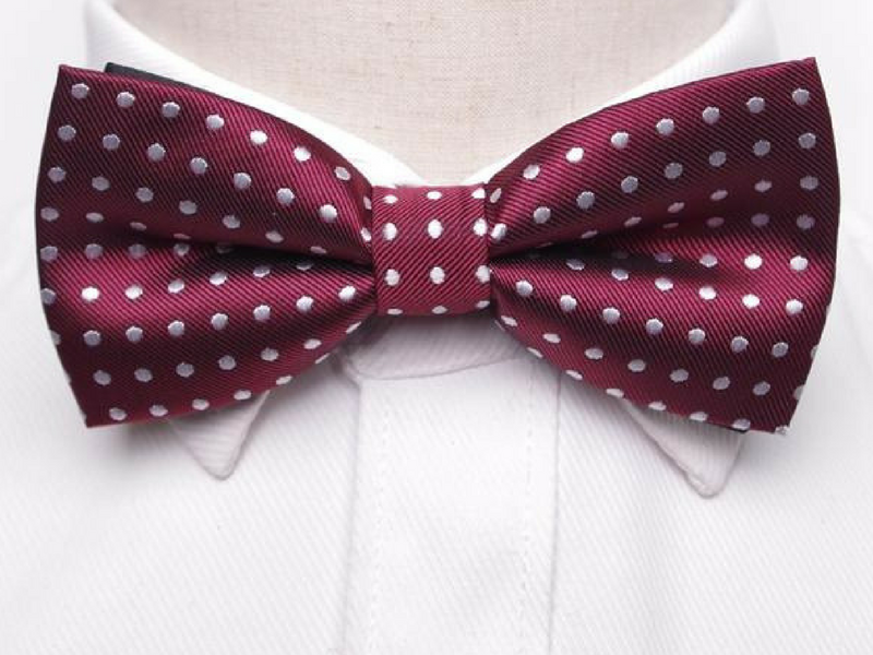 Pre-Tied Bowtie Red Large Dot