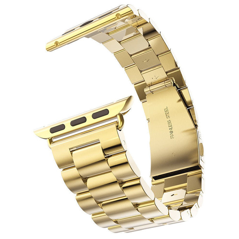 Stainless Steel Watch Band Gold