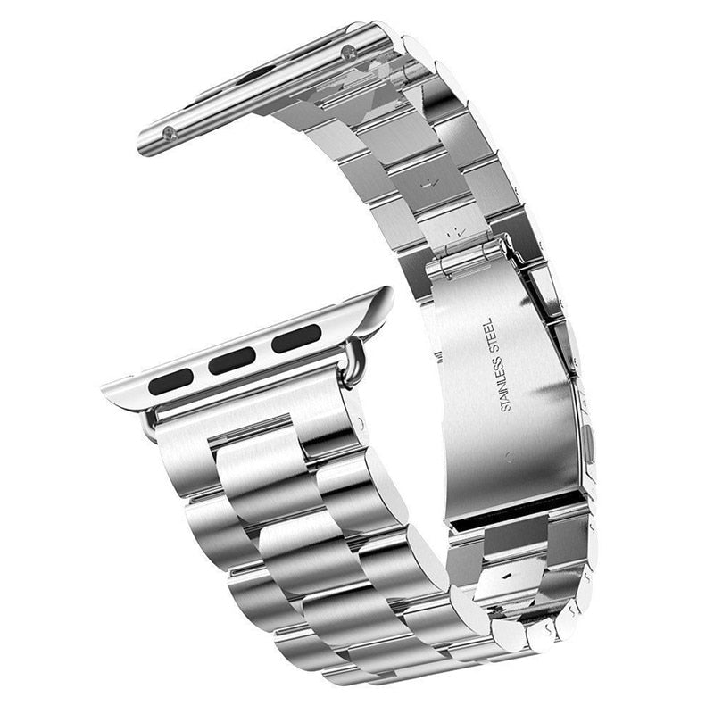 Stainless Steel Watch Band Silver