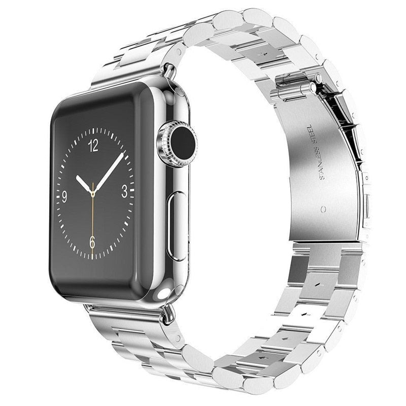 Stainless Steel Watch Band with Watch Silver