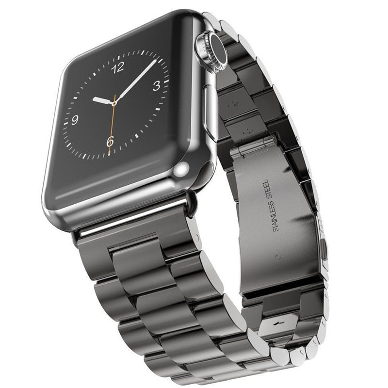 Stainless Steel Watch Band with Watch Black