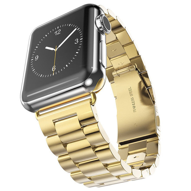 Stainless Steel Watch Band with Watch Gold