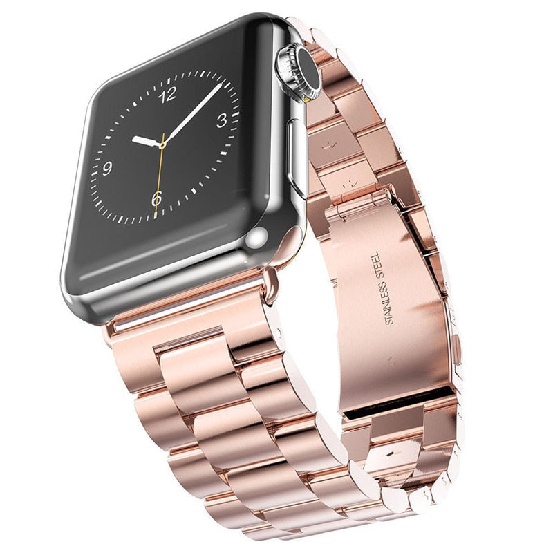 Stainless Steel Watch Band with Watch Rose Gold