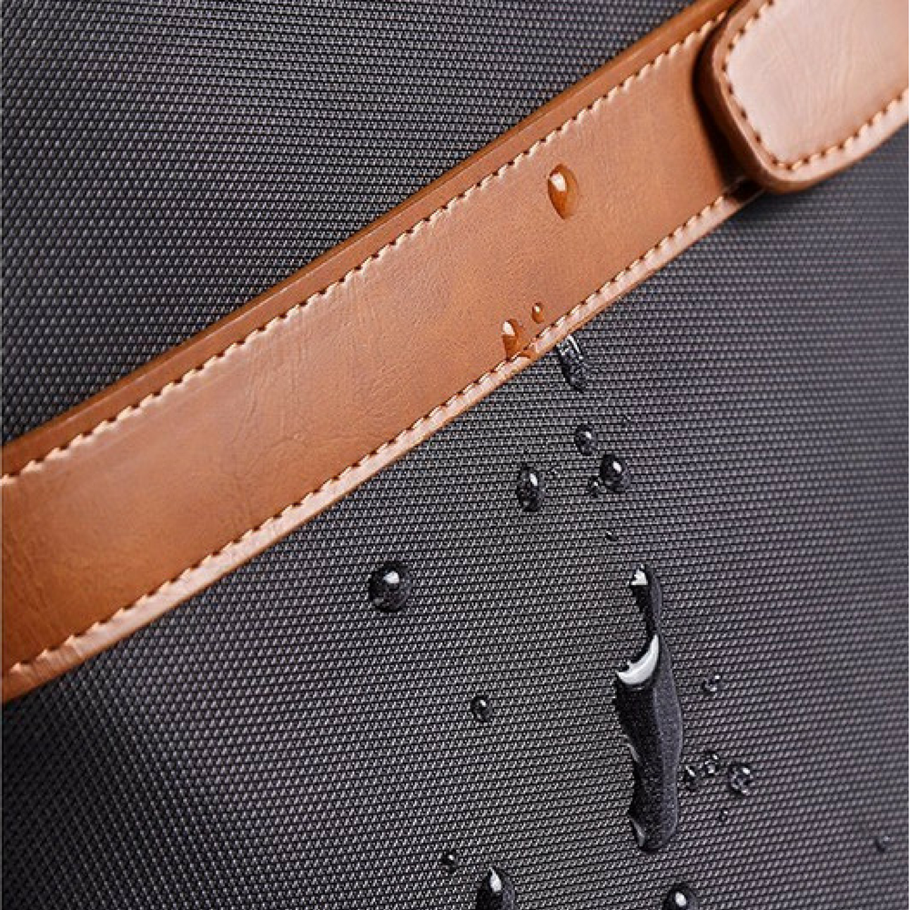 Waterproof Laptop Briefcase Black With Waterproof Demonstration