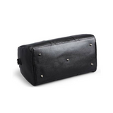Leather Weekend Travel Bag Black Bottom