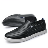 PERFORATED LEATHER SLIP-ON SNEAKER
