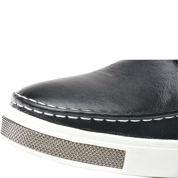 Black boat shoe sneaker rubber outsole