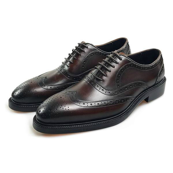 GENUINE LEATHER WINGTIP OXFORDS