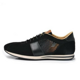 Suede and Mesh Low-top Sneakers Black