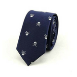 Men's Skull Neck Tie Navy