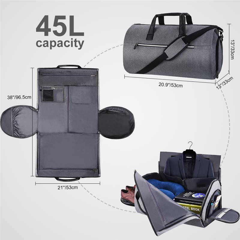 ALL IN 1 GARMENT TO DUFFLE TRAVEL BAG (PRE-SALE)