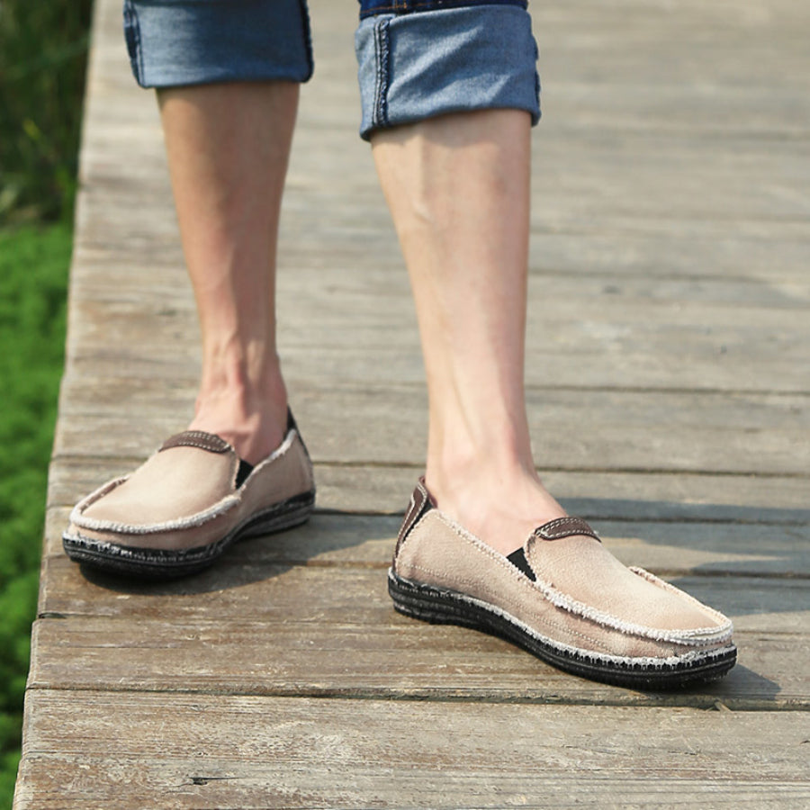 urban beach loafer brown person wearing front thumb