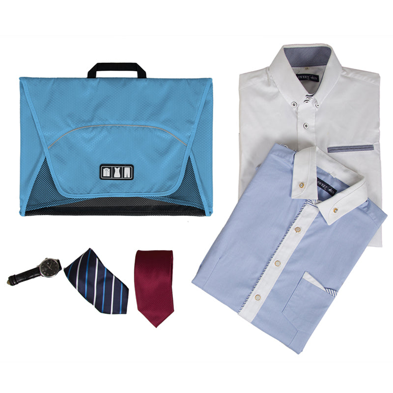 Fold And Pack Shirt Organizer With Items To Pack