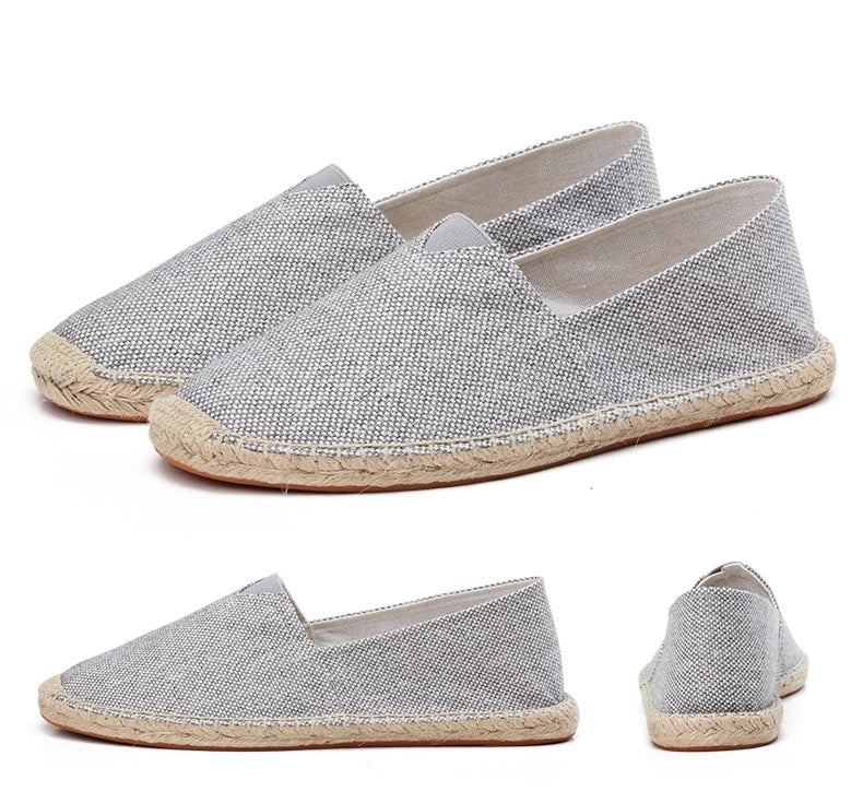 men's basic espadrilles grey different shoe angles thumb
