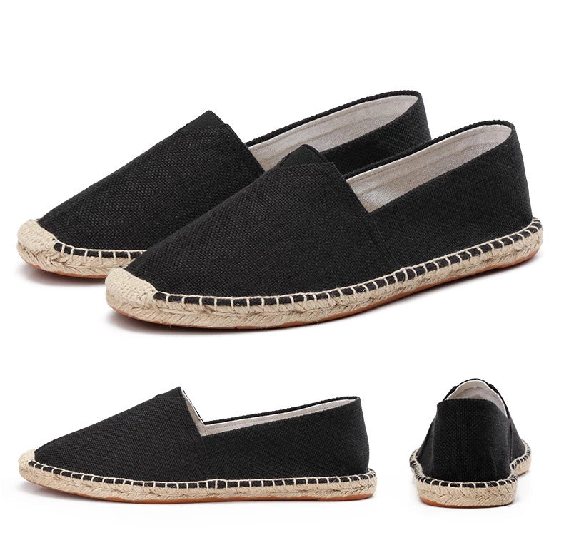 men's basic espadrilles black different angles thumb