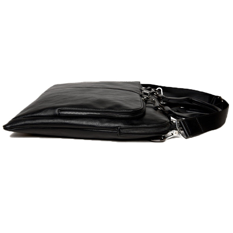 Slim Briefcase Black Laying Down