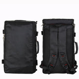 Multi-Purpose Backpack Black Rear With Shoulder Straps And Straps Cover