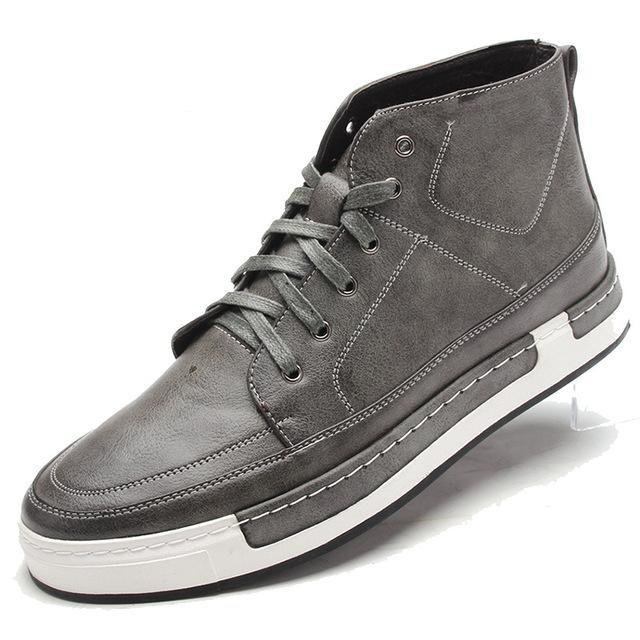 Lace-Up High-Tops Grey Side