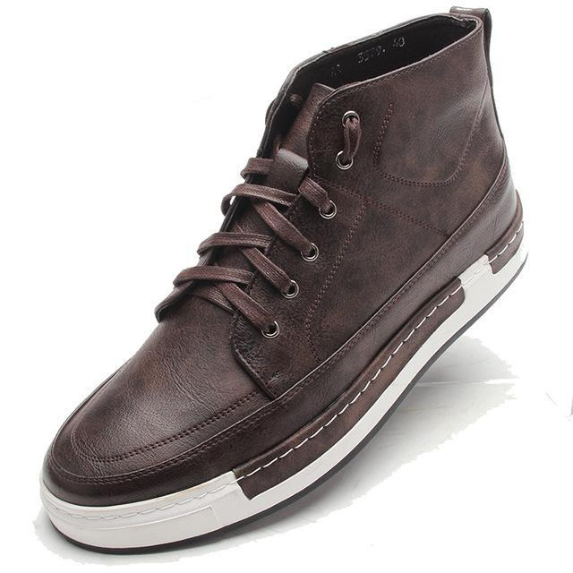 Lace-Up High-Tops Brown