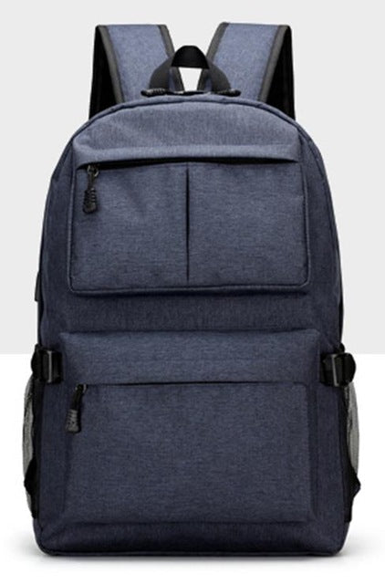 Nylon Backpack Blue Front